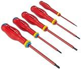 FACOM AT5VE.PB - Juego de 5 destornilladores aislados Rojo/Negro