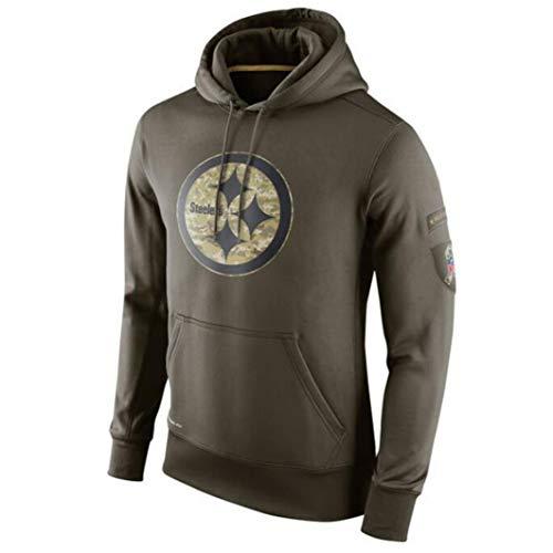 NFL Hoodie Pittsburgh Steelers Football-Sweatshirts Für Männer Herbst New Jersey High Neck Hoodie Long Sleeve T-Shirt,XL(175~180cm)