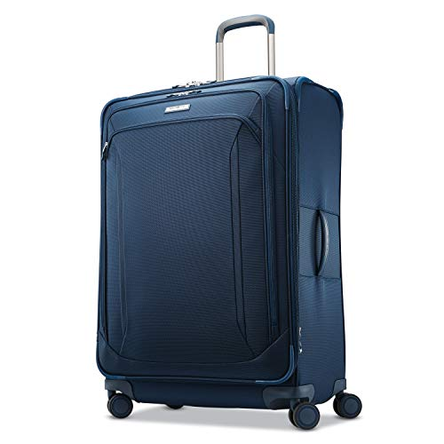 Samsonite Lineate Softside Expandable Luggage with Spinner Wheels, Evening Teal, Checked-Large 29-Inch