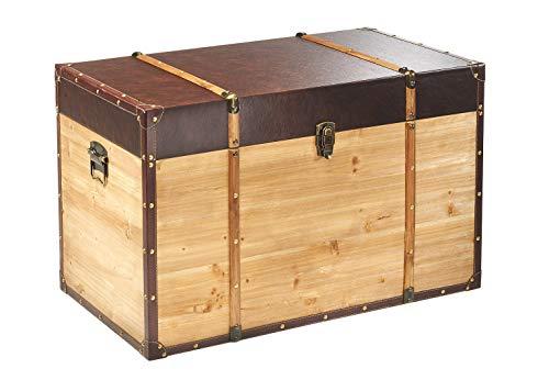 Truhe Schatztruhe Piratentruhe Panama - Holz - 80x45x50 cm