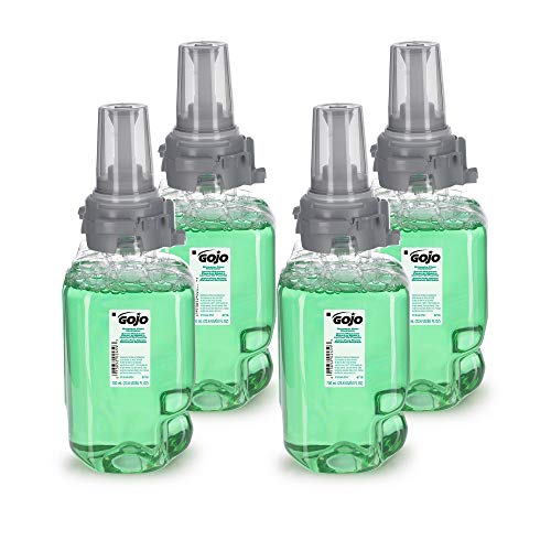 GOJO Botanical Foam Handwash, Botanical Fragrance, 700 mL Hand Soap Refill for GOJO ADX-7 Push-Style Dispenser (Pack of 4) - 8716-04,Green