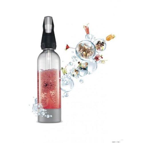 iSi 100530 Twist'n Sparkle, 1 L, Wassersprudler für Sprudelwasser, Kohlensäure für Wasser, Soda Maker, Robuste PET-Flasche für Unterwegs, Bar Zubehör für Cocktails und Drinks