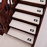 Stufenmatte/Teppich/Stufenmatte/Teppich/Treppenstufenmatten, rutschfest, Plüsch, rechteckig/Bogen/Treppenteppich, B-Weiß, 80 x 24 + 3 cm