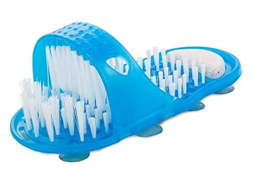 HUKITECH Premium voetborstel, reiniging en massage voor voeten, voetverzorging, borstel, wasborstel, merk voetmassage, eeltverwijderaar, vijl, massager