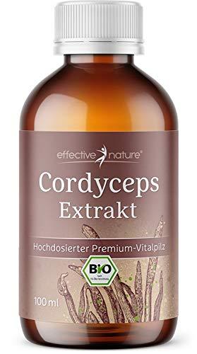 effective nature - Cordyceps-Extrakt - In Bio-Qualität - Hochdosierter Premium Pilz - Hohe Bioverfügbarkeit - Vegan - 100 ml