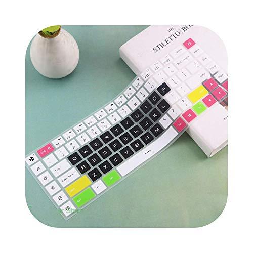 Siliconen Laptop Keyboard Cover Case Beschermende Film Huidbeschermer Voor Xiaomi Mi Gaming Laptop 15 15.6'' Inch Gtx 1060 Eén maat Zwart