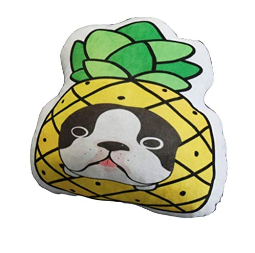 Rfeifei Cushion Pillow Cushion Doll Cushion Plush Toy Chair Cute Fruit Dog Pillow Home Decoration (Color : Pineapple Dog)