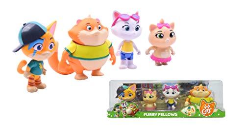 Smoby -44 Gatos Set 4 Figuras coleccionables Buffycats 8 cm, 3 años, 7600180138