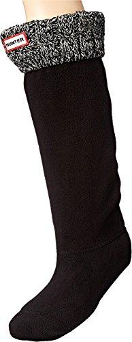 Hunter lange Thermosocken für Gummistiefel, Unisex, für  Erwachsene, 15,2cm., - schwarz / grau - Größe: 36/38 EU