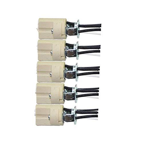 ODETOJOY 5 pz presa G9 zoccolo di ceramica G9 lampade attacco - Con cavo isol, - attacco attacco per alogena LED CFL