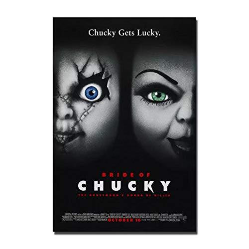 Raspbery La novia de Chucky película de terror Vintage imagen abstracta cartel de arte e impresiones lienzo pintura arte de pared decoración del hogar -50x70cm sin marco