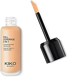 KIKO MILANO - Full Coverage Foundation and Concealer Liquid Foundation Makeup Innovative Formula Superior Coverage | Color Light to Medium WB 15 | Cruelty Free | Professional Makeup | Made in Italy