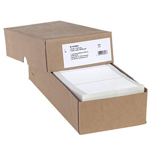 HERMA 8203 Computeretiketten, endlos (101,6 x 73,8 mm, Papier, matt, 1-bahnig) selbstklebend, permanent haftende Endlosetiketten, 2.000 Etiketten, weiß