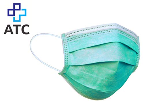 ATC Mund- und Nasenmaske, 50er Pack, Einweg Maske, 3-lagig Gummizug