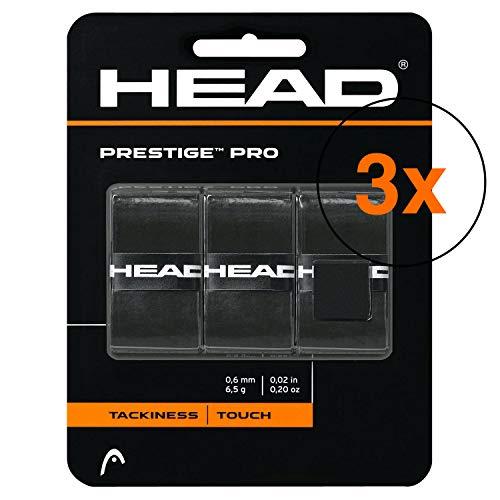 Head Overgrip Prestige Pro negro 0,6 mm 3 paquetes