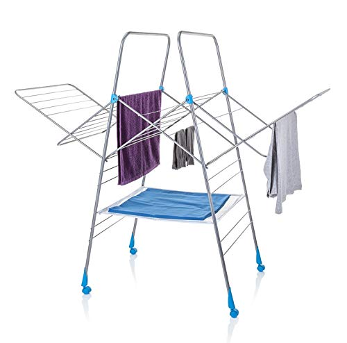 Auto Open and Close Super Size Heavy Duty Mobile Airer by Minky