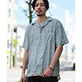 ジップファイブ(ZIP FIVE) 半袖オープンカラーシャツ【ターコイズブルー/M】