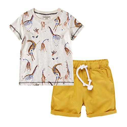 Cover - Golf-T-Shirts für Jungen in Gelb, Größe 6-7 Jahre