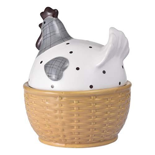 adfafw Rejilla para Huevos Cesta De Cerámica para Huevos Cocina Multifuncional Ordenada Y Decoración del Hogar Regalo Artesanal En Forma De Huevo Nido De Madre Caja De Almacenamiento para Refined