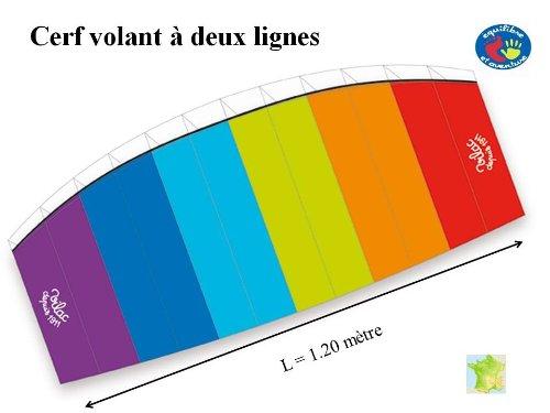 Cerf-volant de traction à 2 lignes - dès 7/8 ans - format parapente - Vilac France