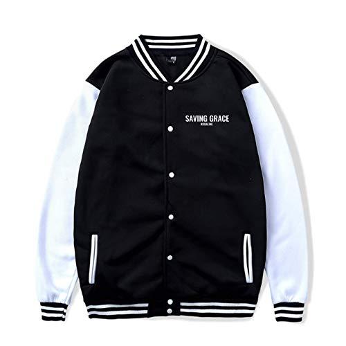 Yougou Kodaline Saving Grace Unisex Casual Baseball Uniform Jacket Sport Coat Sweatshirt Hoodie Black