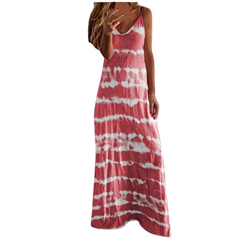 Buy Bargain Toimothcn Women's Camis Long Dress Spaghetti Straps Striped Printed Loose Casual Maxi Dr...