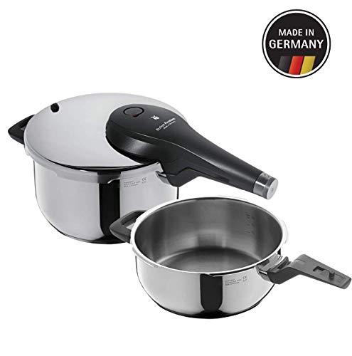 WMF Perfect Premium - Set de olla ultra rápida/a presión de 22 cm y 4,5 l, cuerpo de 3 l y cestillo de vapor, acero inoxidable cromargan, apto para inducción, fabricado en Alemania (Reacondicionado)