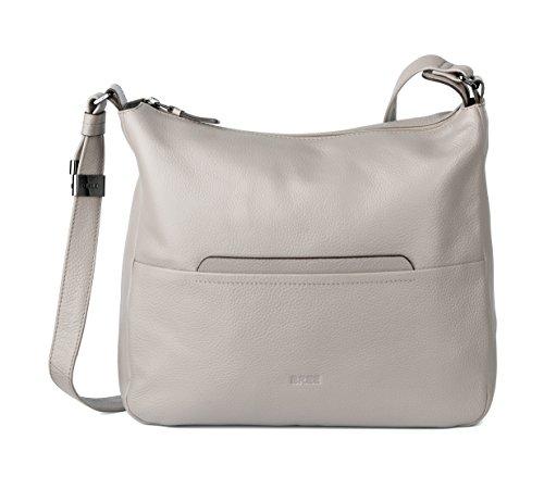 BREE Faro 3   große Schultertragetasche   Leder Cross Shoulder Bag   Vintage Khaki