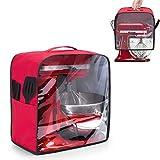 Luxja Cubierta para Batidora Amasadora (4,3 Litros y 4,8 Litros), Cubierta de Polvo para KitchenAid Robot de Cocina (con Panel Frontal Transparente), Rojo