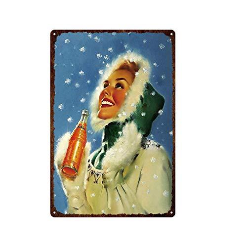 ivAZW Cartel de Chapa de Metal Retro, Utensilios de Cocina, Placa Vintage, Pintura de Hierro, vajilla, decoración de Animales, Fiesta, Restaurante, Bar 20x30cm 20