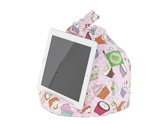 iPad, eReader & Book Mini Sitzsack von Bean Lazy passt für alle Tablets und eReaders - Cupcake