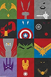 Poster with avengers signs on it