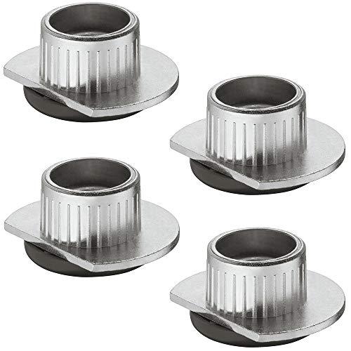 Gedotec Sockelfuß Unter-Schrank Möbelfüße verstellbar zum Einbohren & Schrauben | Tragkraft 400 kg | Sockelverstellfuß Stahl massiv | +10 mm höhenverstellbar | 4 Stück - Verstellfüße für Möbel-Schrank