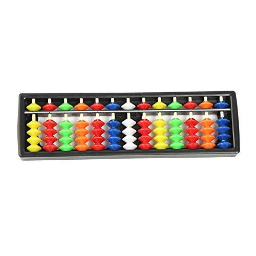 Plástico Ábaco Soroban Aritmética Cálculo De La Herramienta 13 Barras De Herramientas con Cuentas De Colores Gran Educativo para Niños 1pc