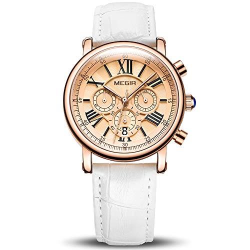Reloj Mujer Reloj de Pulsera para Mujer (Cuarzo, Resistente al Agua, Correa de Piel...