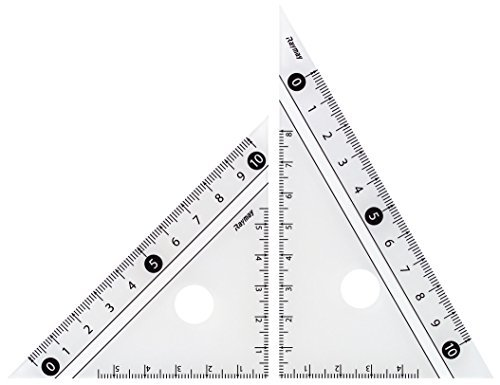 レイメイ藤井 定規 見やすい白黒 三角定規 白 10cm APJ251W 【 3セット 】