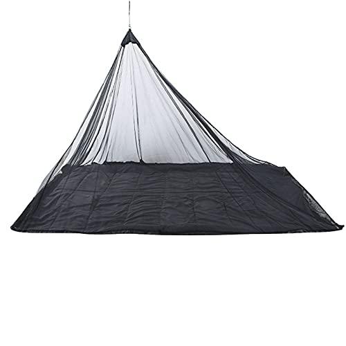 HLONGG Tienda Camping Mosquito Insecto Net con Bolsa De Portátil Cuelga Un Solo Triángulo Transpirable Eco-Friendly Anti Mosquito Tienda Fácil De Instalar Limpio para La Viajes Al Aire Libre,Negro