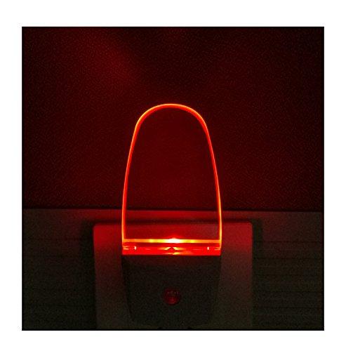 Greenic Plug-In Red Night Light