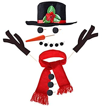 TOYMYTOY Snowman Kit Snowman Decorating Kit 15Pcs Snowman Making Kit Winter Party Kids Outdoor Toys Decoration Christmas Holiday Decoration Gift