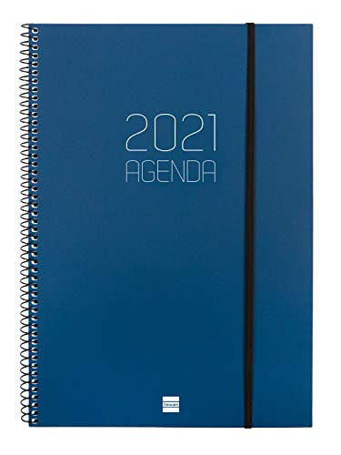 Finocam - Agenda 2021 Semana vista apaisada Espiral Opaque...