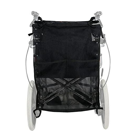 AIIOW Deluxe Rollstuhl-Doppel-Sauerstoff-Zylindertasche, Tragetasche für Sauerstoffzylinder, Tasche/Sauerstofftankhalter für Zylinder D & E, Sauerstoff-Rucksackhalter für Rollstuhl & Walker
