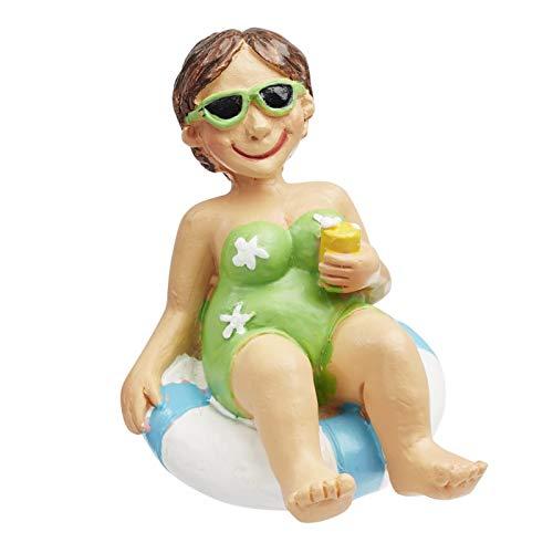 Bade-Urlauberin im Schwimmreif, ca. 6 cm