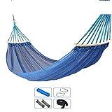 Dirgee Malla de Alambre de Hielo Hamaca al Aire Libre Hamaca para Adultos para niños Swiling Interior Silla Colgante (Color: Blue-B) (Color : Bluea)