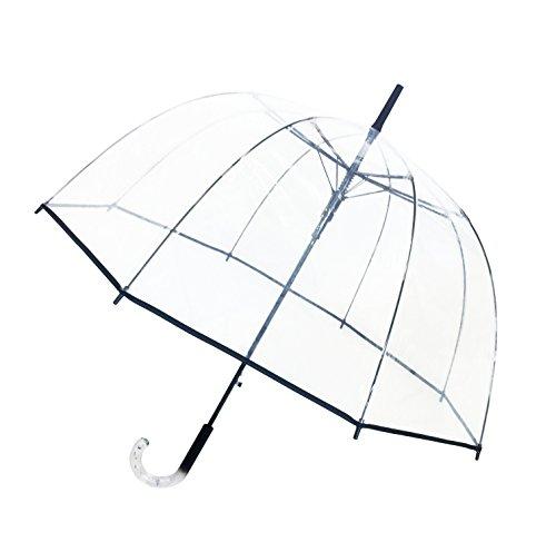 SMATI Glockenförmiger und transparenter Regenschirm Windproof