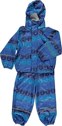 Smafolk Regenanzug/Rainsuit blau Äpfel Gr. 4-5 (104-110)