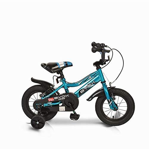 Moni Trade Ltd. Kinderfahrrad 12 Zoll Prince blau, Stützräder, Kettenschutz, sportliches Design