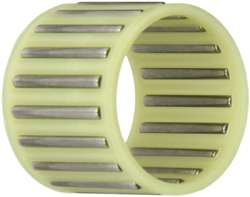INA K28X33X27TN Needle Roller Bearing, Cage and Roller, Single Row, Polyamide Nylon Cage, Open End, Metric, 28mm ID, 33mm OD, 27mm Width, 16000rpm Maximum Rotational Speed