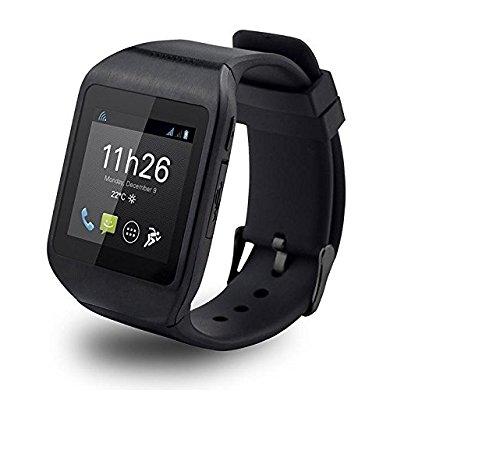 Polaroid PWATCHNOIR Bluetooth 3.0 Smartwatch für Android Smartphone schwarz