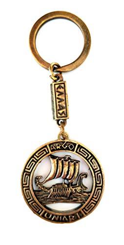Key Ring Ancient Coin Shield Argo Jason and The Argonauts Keychain