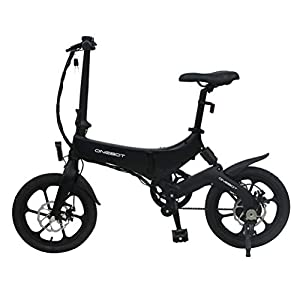 "Electric Bikes Bestice Electric Bikes for Adult ONEBOT S6 16"" Foldable E-Bike 36V 6.4Ah 250W 25KM/h Electric Bikes Adjustable Lightweight Magnesium Alloy Frame E-Bike for Sports Cycling Travel Commuting"